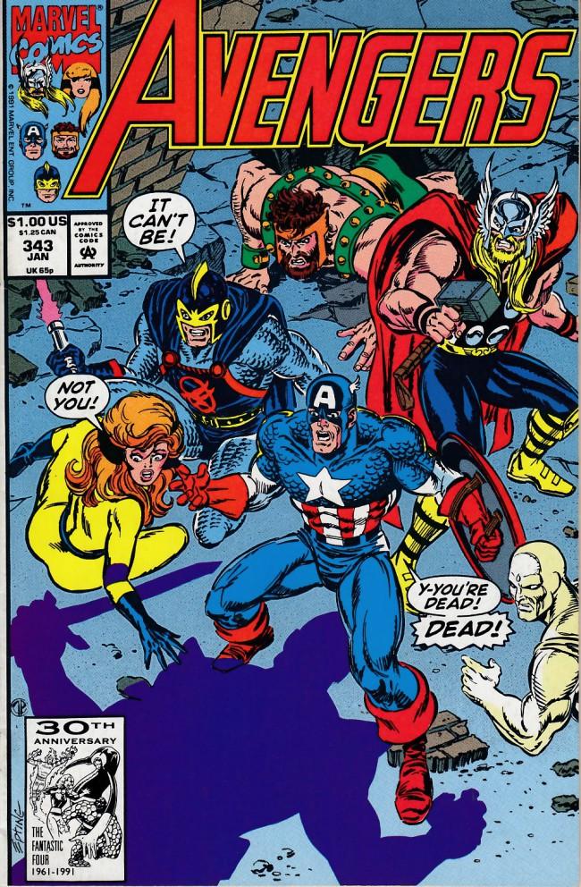 Couverture de Avengers Vol. 1 (Marvel Comics - 1963) -343- First night