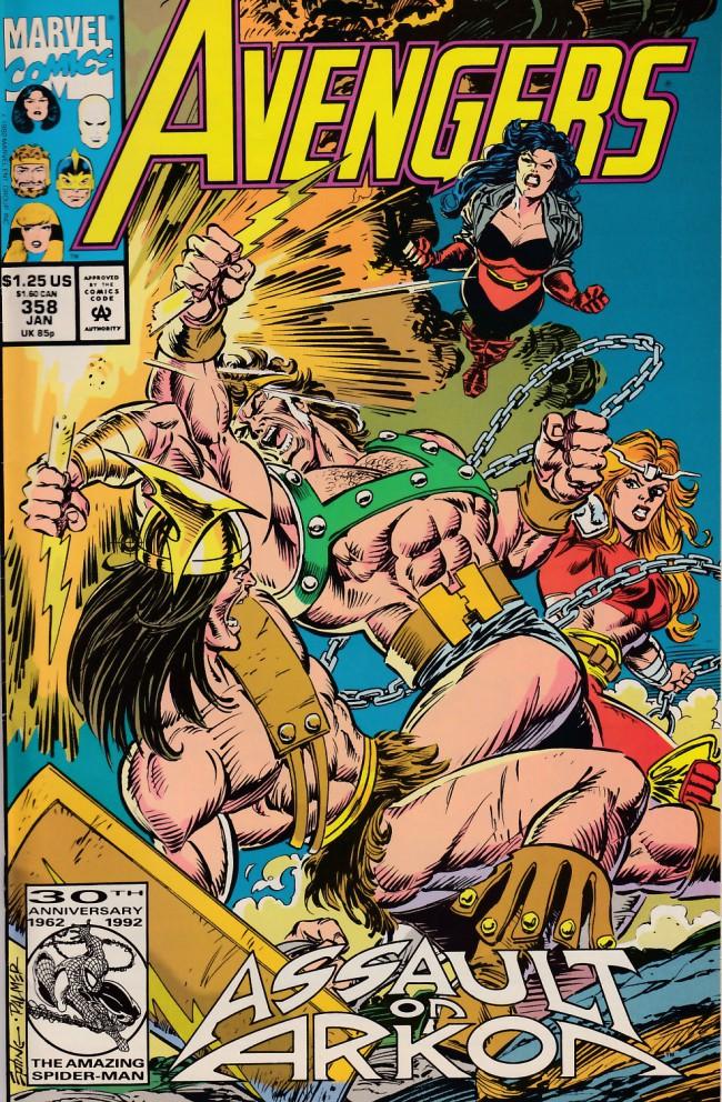 Couverture de Avengers Vol. 1 (Marvel Comics - 1963) -358- Arkon's asylum