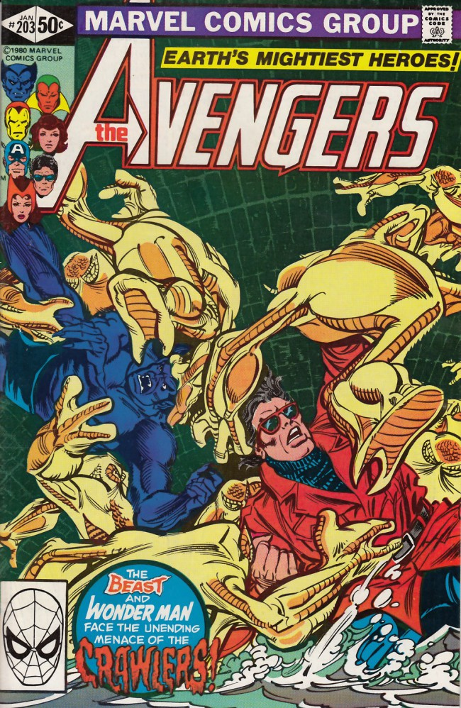 Couverture de Avengers Vol. 1 (Marvel Comics - 1963) -203- Night of the crawlers