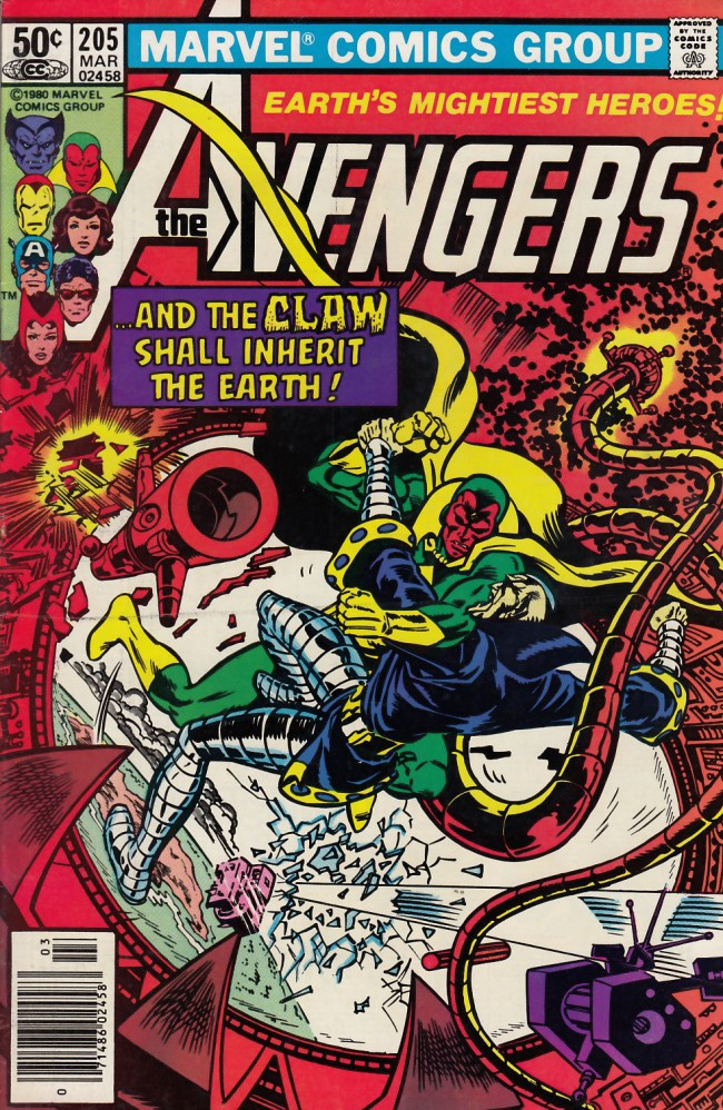 Couverture de Avengers Vol. 1 (Marvel Comics - 1963) -205- Shadow of the claw