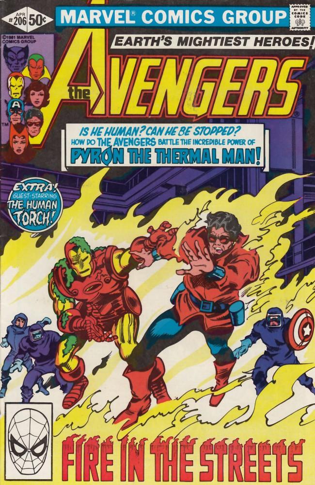 Couverture de Avengers Vol. 1 (Marvel Comics - 1963) -206- Fire in the streets