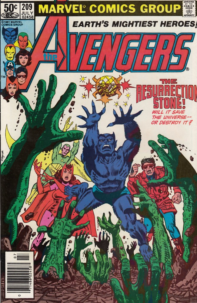 Couverture de Avengers Vol. 1 (Marvel Comics - 1963) -209- The resurrection stone