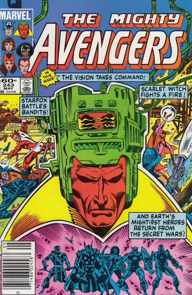 Couverture de Avengers Vol. 1 (Marvel Comics - 1963) -243- Chain of command