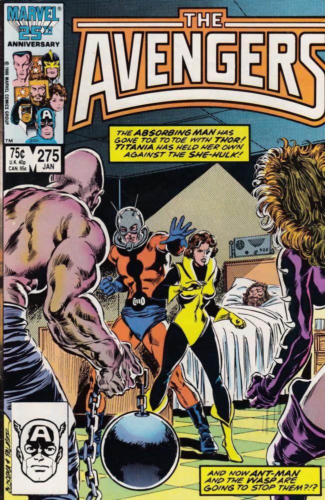 Couverture de Avengers Vol. 1 (Marvel Comics - 1963) -275- Even a god can dies