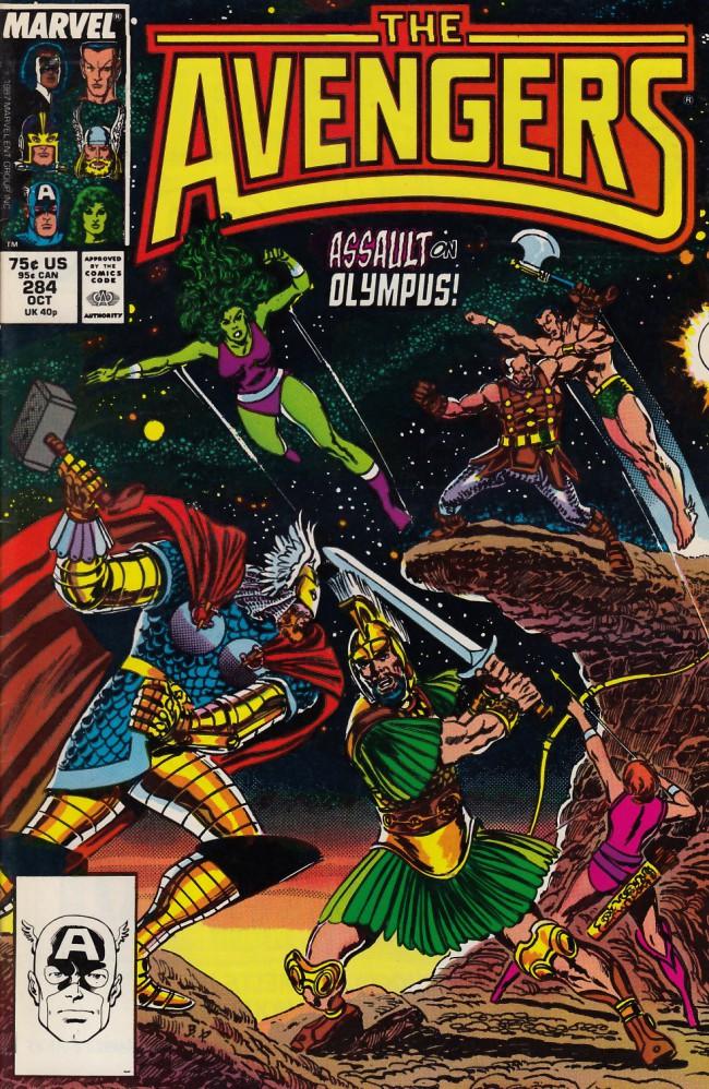 Couverture de Avengers Vol. 1 (Marvel Comics - 1963) -284- Battleground: Olympus
