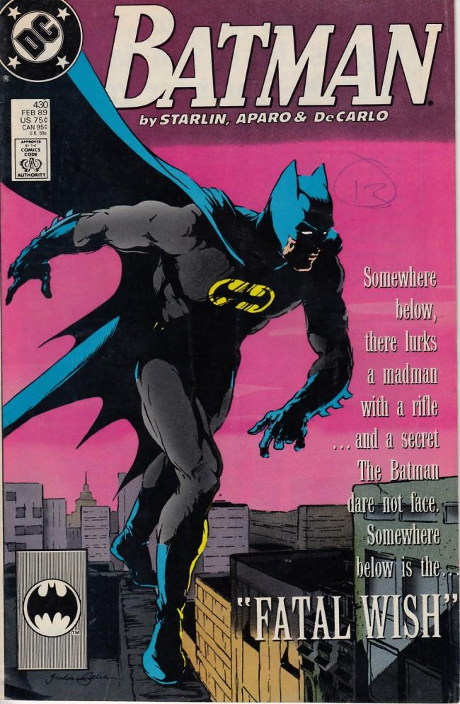 Couverture de Batman (1940) -430- Fatal wish