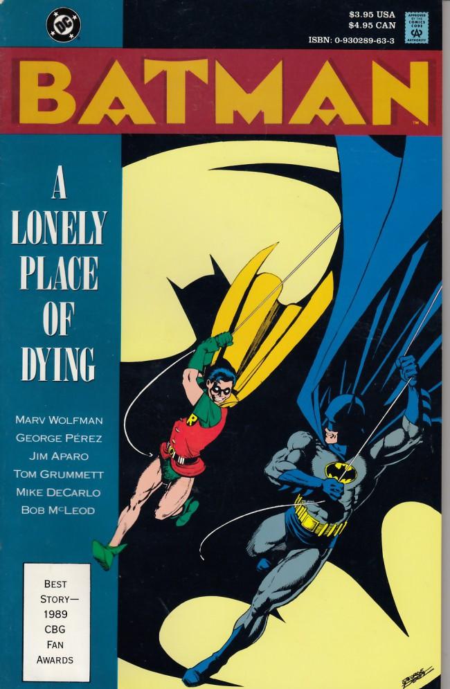 Couverture de Batman (1940) -INT- A lonely place of dying