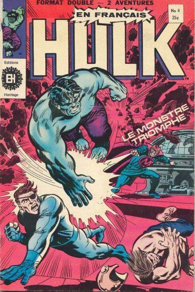 Couverture de L'incroyable Hulk (Éditions Héritage) -4- le monstre triomphe