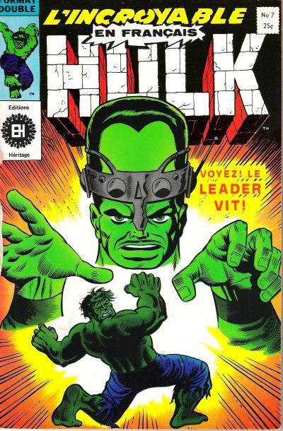 Couverture de L'incroyable Hulk (Éditions Héritage) -7- voyez ! le leader vit