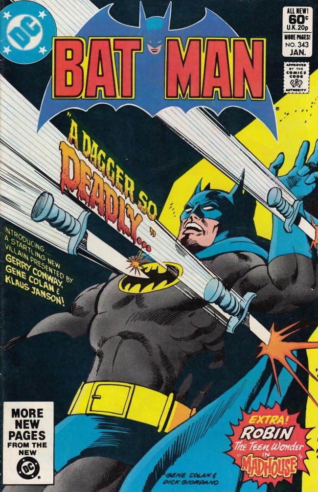 Couverture de Batman (1940) -343- A dagger so deadly