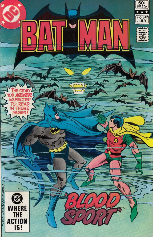 Couverture de Batman Vol.1 (DC Comics - 1940) -349- Blood sport