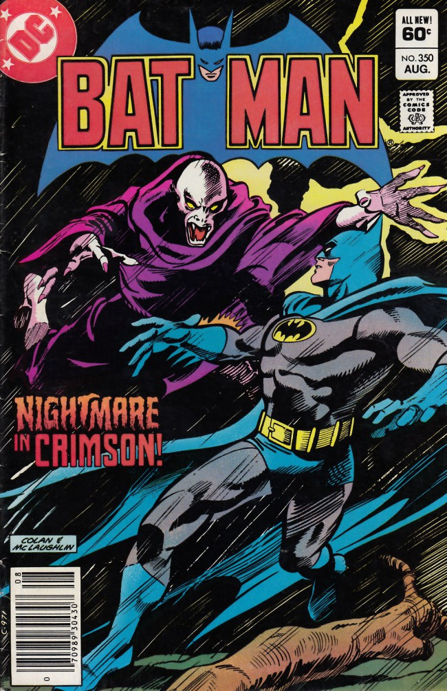 Couverture de Batman Vol.1 (DC Comics - 1940) -350- Nightmare in crimson
