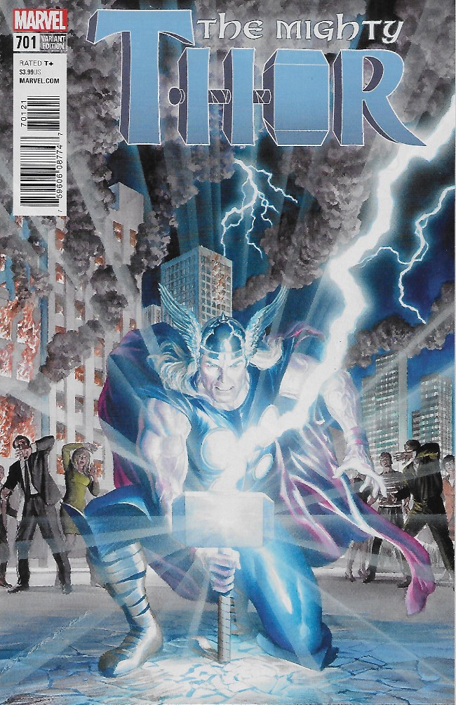 Couverture de Mighty Thor (The) (2016) -701A- The Wrath of The Mangog