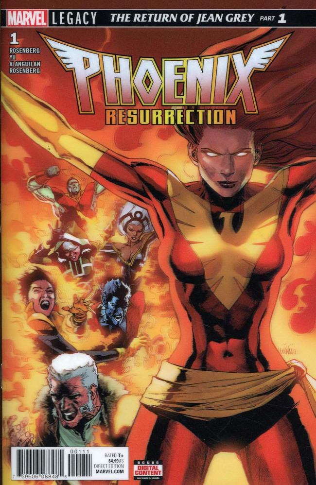 Couverture de Phoenix Resurrection: The Return of Jean Grey (2017) -1- Chapter One: Frustrate the Sun