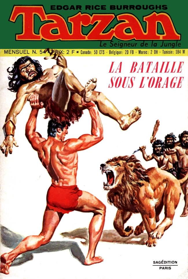 Couverture de Tarzan (2e Série - Sagédition) (Vedettes T.V.) -54- La bataille sous l'orage