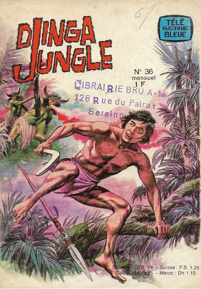 Couverture de Télé série bleue (Les hommes volants, Destination Danger, etc.) -36- Djinga Jungle - Les dieux de feu