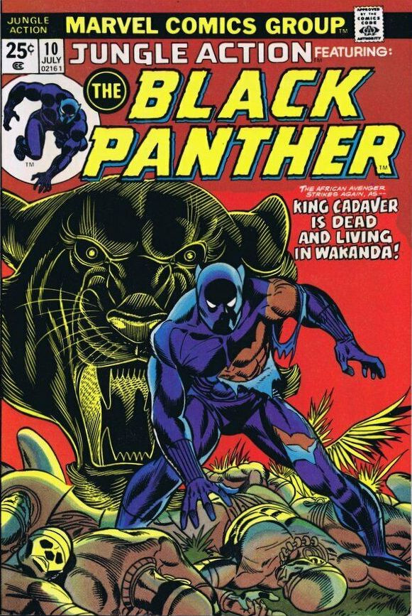 Couverture de Jungle Action Vol.2 (Marvel - 1972) -10- King Cadaver is dead and living in Wakanda