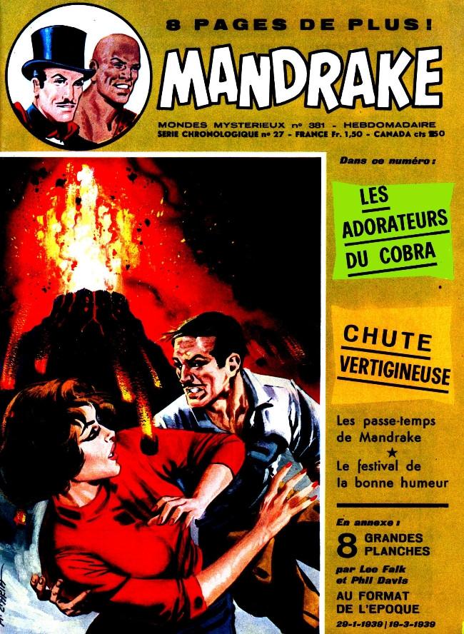 Couverture de Mandrake (1re Série - Remparts) (Mondes Mystérieux - 1) -381- Les adorateurs du Cobra
