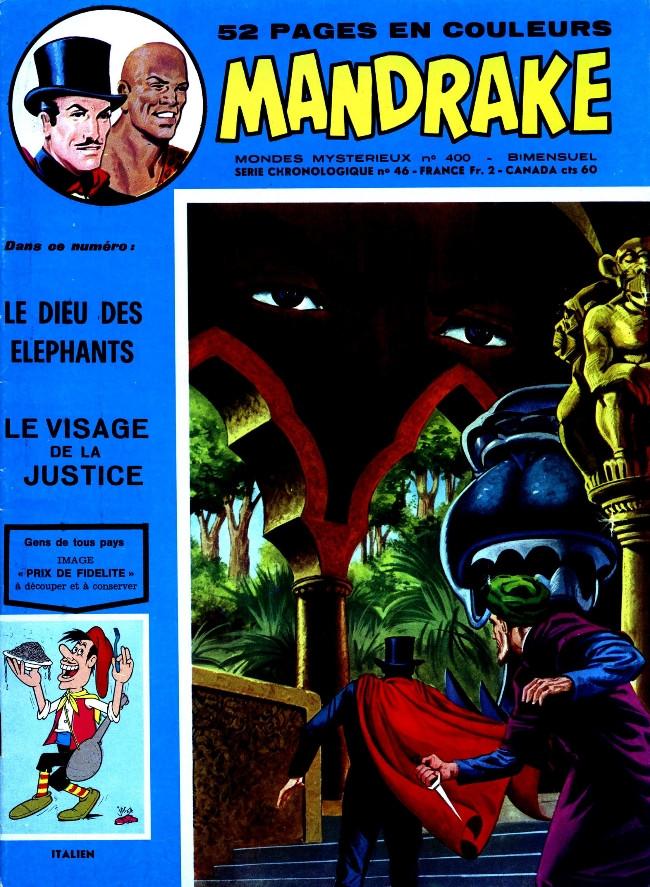 Couverture de Mandrake (1re Série - Remparts) (Mondes Mystérieux - 1) -400- Le dieu des éléphants