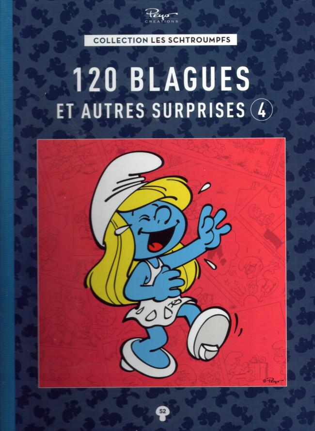 Couverture de Les schtroumpfs - La collection (Hachette) -52- 120 blagues et autres surprises 4