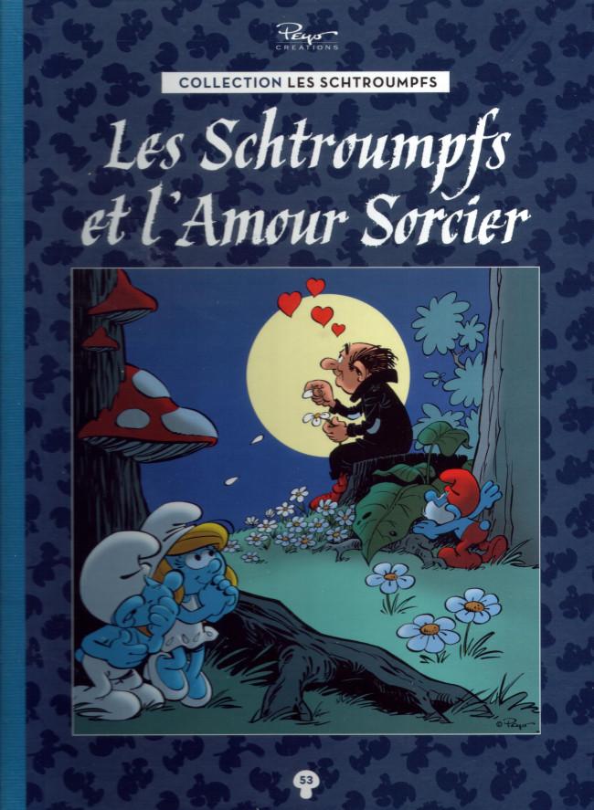 Couverture de Les schtroumpfs - La collection (Hachette) -53- Les Schtroumpfs et l'amour sorcier