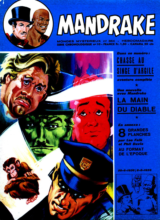 Couverture de Mandrake (1re Série - Remparts) (Mondes Mystérieux - 1) -364- Chasse au singe d'argile