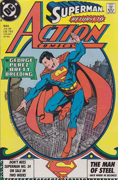 Couverture de Action Comics (DC Comics - 1938) -643- Superman on Earth