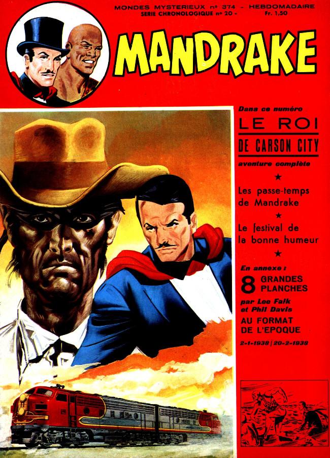 Couverture de Mandrake (1re Série - Remparts) (Mondes Mystérieux - 1) -374- Le roi de Carson City