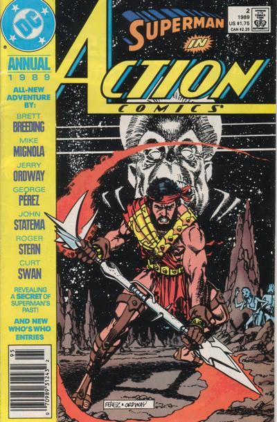 Couverture de Action Comics (DC Comics - 1938) -AN02- Memories of Krypton's Past