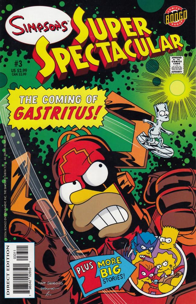 Couverture de simpsons super spectacular -3- The coming of Gastritus