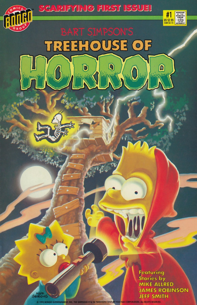 Couverture de Simpsons (The): Treehouse of Horror (1995) -1- Treehouse of Horror #1
