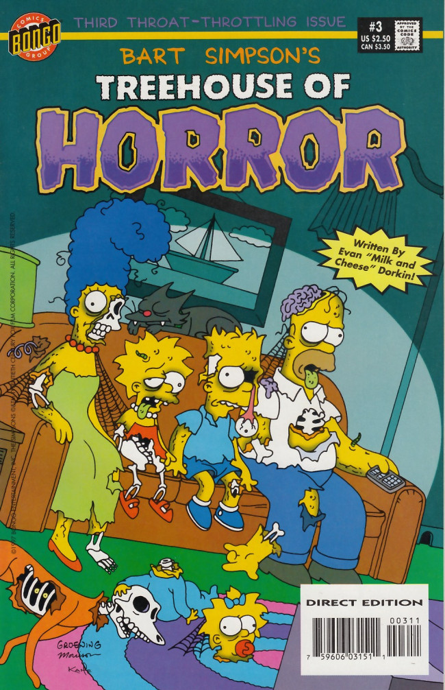 Couverture de Simpsons (The): Treehouse of Horror (1995) -3- Treehouse of Horror #3