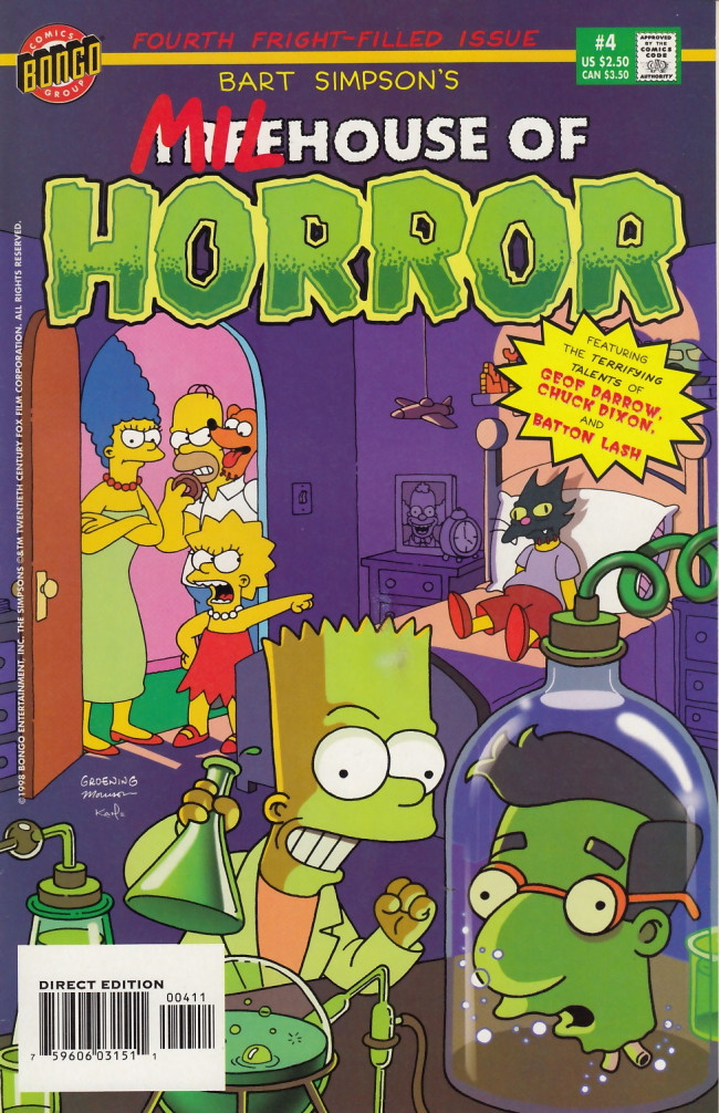 Couverture de Simpsons (The): Treehouse of Horror (1995) -4- Treehouse of Horror #4