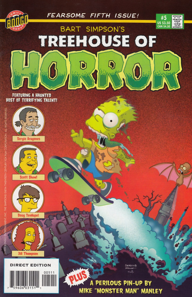 Couverture de Simpsons (The): Treehouse of Horror (1995) -5- Treehouse of Horror #5