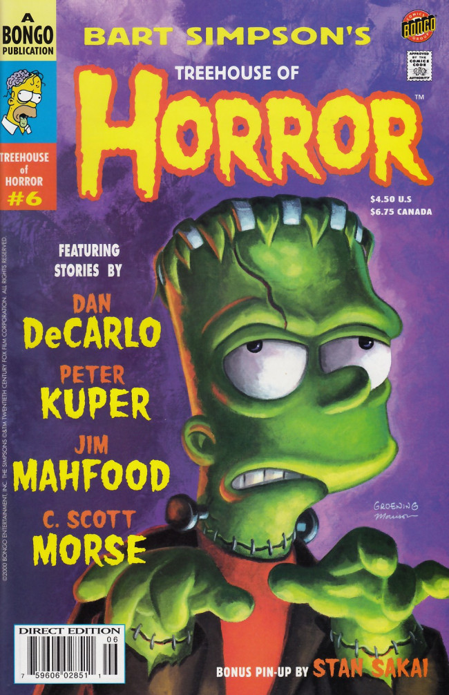 Couverture de Simpsons (The): Treehouse of Horror (1995) -6- Treehouse of Horror #6