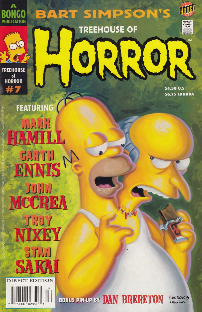 Couverture de Simpsons (The): Treehouse of Horror (1995) -7- Treehouse of Horror #7