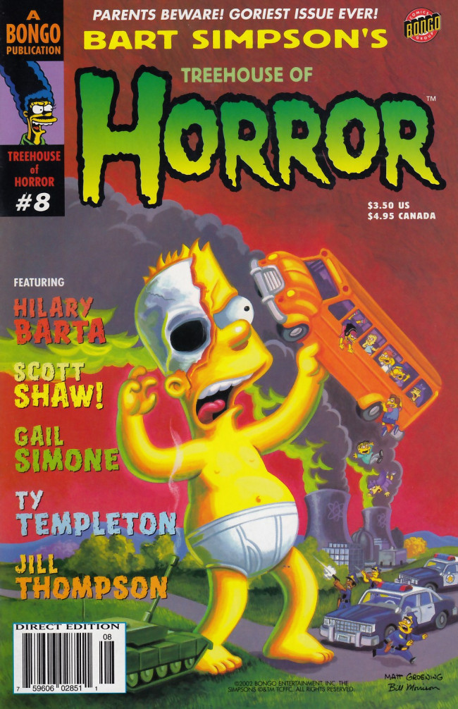 Couverture de Simpsons (The): Treehouse of Horror (1995) -8- Treehouse of Horror #8