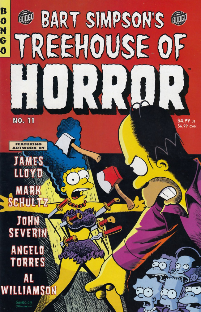 Couverture de Simpsons (The): Treehouse of Horror (1995) -11- Treehouse of Horror #11