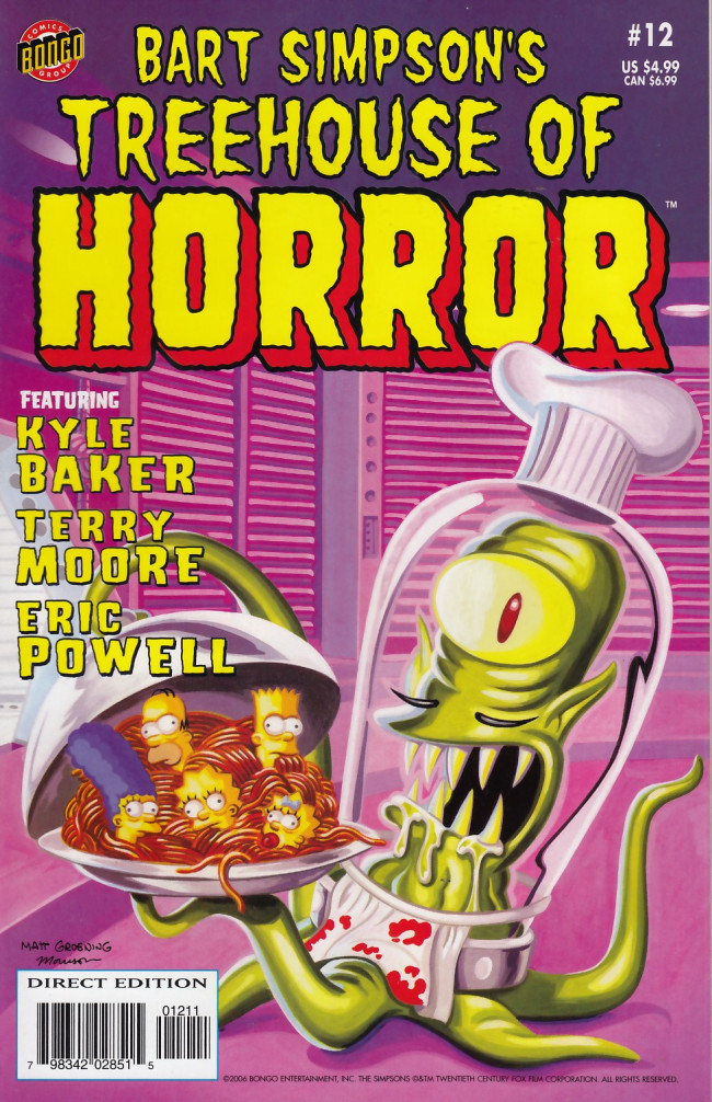Couverture de Simpsons (The): Treehouse of Horror (1995) -12- Treehouse of Horror #12