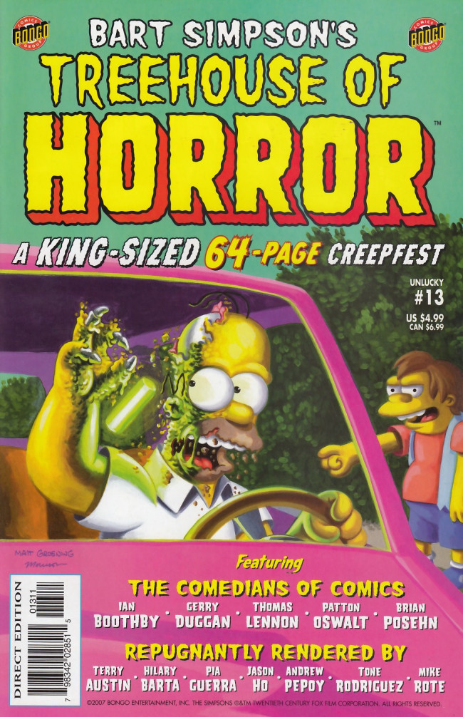 Couverture de Simpsons (The): Treehouse of Horror (1995) -13- Treehouse of Horror #13