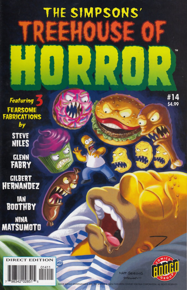 Couverture de Simpsons (The): Treehouse of Horror (1995) -14- Treehouse of Horror #14