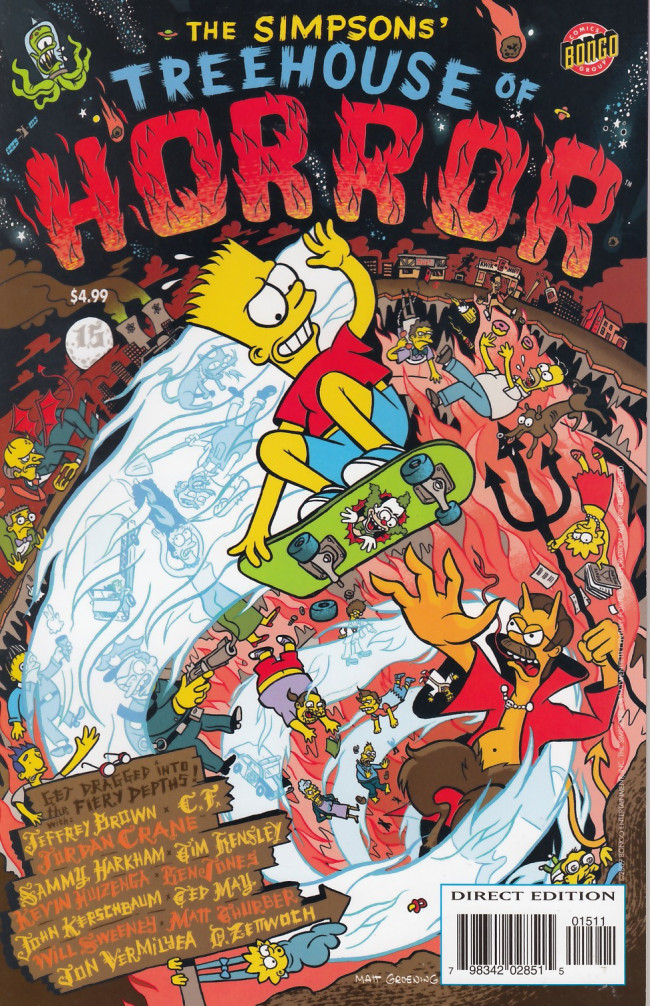 Couverture de Simpsons (The): Treehouse of Horror (1995) -15- Treehouse of Horror #15