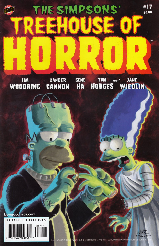 Couverture de Simpsons (The): Treehouse of Horror (1995) -17- Treehouse of Horror #17