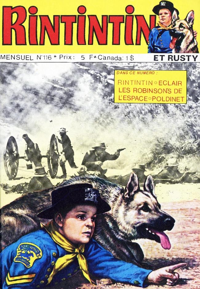 Couverture de Rin Tin Tin & Rusty (2e série) -116- Soldat Brendlow héros de Creek Valley