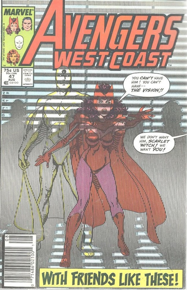 Couverture de Avengers West Coast (1989) -47- With Friends Like These
