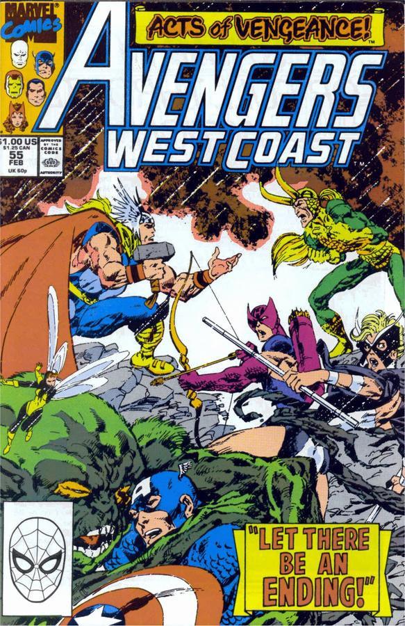 Couverture de Avengers West Coast (1989) -55- The Breaking Strain