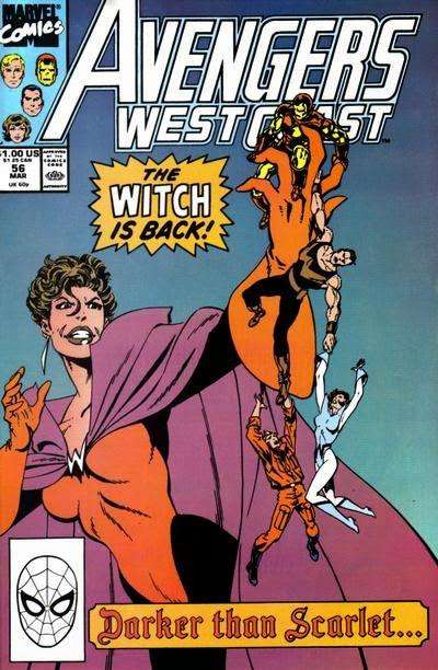 Couverture de Avengers West Coast (1989) -56- Darker than Scarlet