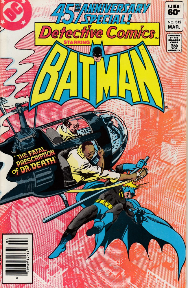 Couverture de Detective Comics (1937) -512- The Fatal Prescription of Doctor Death