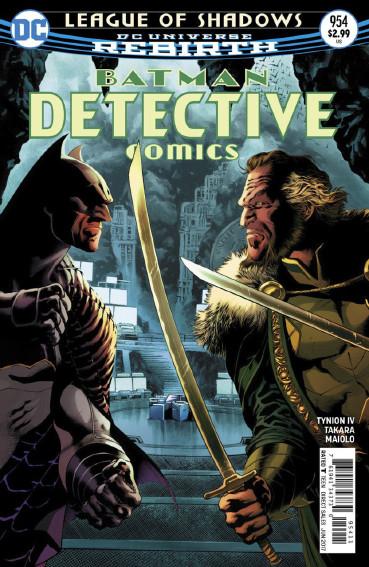 Couverture de Detective Comics (1937) -954- League of Shadows - Part 4 : Snake in the Eagle's shadow