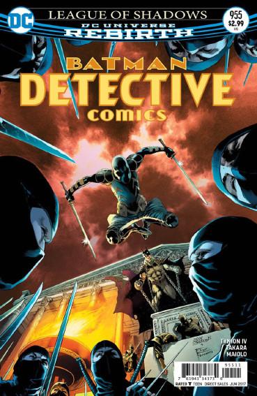 Couverture de Detective Comics (1937), Période Rebirth (2016) -955- League of Shadows - Part 5 : Fists of fury